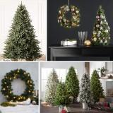 Mākslīgās Ziemassvētku Eglītes, Vainagi un Rotājumi