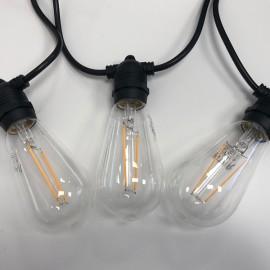 Āra LED spuldžu virtene ar E27 spuldzēm komplektā 14.4m