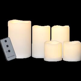 LED Pillar Candle Paul set of 5 062-69
