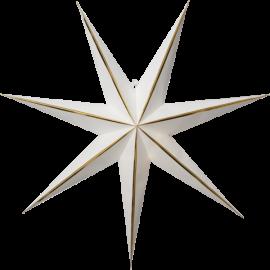 Papīra zvaigzne karināma balta 60x60cm Lysa 501-31