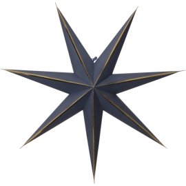 Papīra zvaigzne karināma zila 60x60cm Lysa 501-32