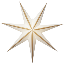 Papīra zvaigzne karināma balta 75x75cm Randi 501-28