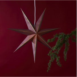 Papīra zvaigzne karināma sarkana 60x60cm Lysa 501-33
