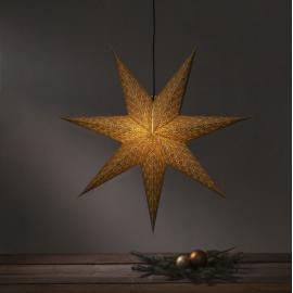 Dekoratīvā papīra zvaigzne karināma zelta 60x60cm Brodie 501-74