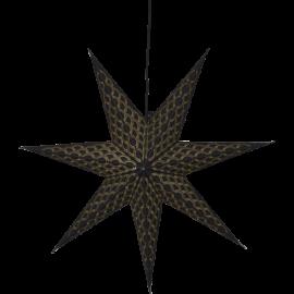 Dekoratīvā papīra zvaigzne karināma melna 60x60cm Brodie 501-75