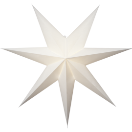 Papīra zvaigzne karināma balta 75x75cm Plain 501-35