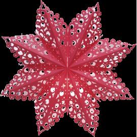Dekoratīvā papīra zvaigzne karināma sarkana 60x60cm 500-26