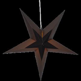 Dekoratīvā papīra zvaigzne karināma melna 60x60cm Diva 501-78