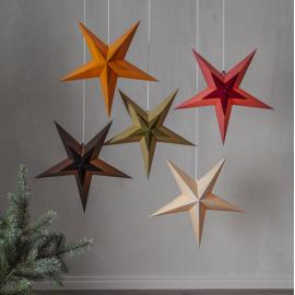 Dekoratīvā papīra zvaigzne karināma orandža 60x60cm Diva 501-79