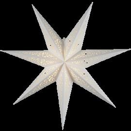 Papīra zvaigzne karināma balta 45x45cm Lace 501-22