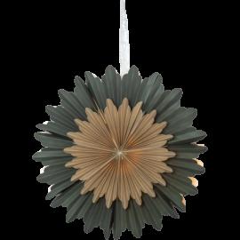 Dekoratīvā papīra zvaigzne karināma zaļa 50x50cm Crystal 501-90