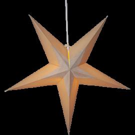Dekoratīvā papīra zvaigzne karināma bēša 60x60cm Diva 501-80