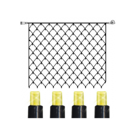 LED Lampiņu Tīkls Ekstra Sistēma System 24 Melna 100cm 42 LED Lampiņas 491-20