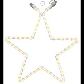 LED Gaismas Zvaigzne Ekstra Sistēma Caurspīdīga 55cm 60 LED Lampiņas 465-76