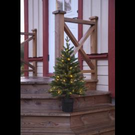 LED Ziemassvētku dekoratīvā eglīte ar lampiņām 0,4W 55x90cm Byske 606-79