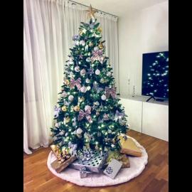 Ziemassvētku Eglīte 210cm 450 LED lampiņas Zaļa 608-30 608-30