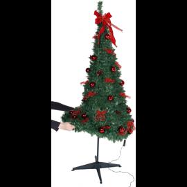 LED Ziemassvētku dekoratīvā eglīte ar lampiņām 3,46W 85x185cm Pop-up-tree 603-90