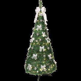 LED Ziemassvētku dekoratīvā eglīte ar lampiņām 4,61W 85x185cm Pop-up-tree 603-92