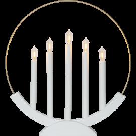 LED Koka svečturis izliekts balts 2W 43x46cm Brace 644-28