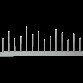 Koka svečturis pelēks 8,4W 77x27cm Echo 644-12