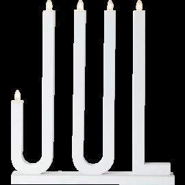 Koka svečturis balts 15W 42x48cm Jul 644-15