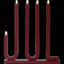 Koka svečturis sarkans 15W 42x48cm Jul 644-16