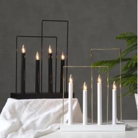 Koka svečturis ar rāmjiem melns 12W 29x36cm Glossy frame 644-72