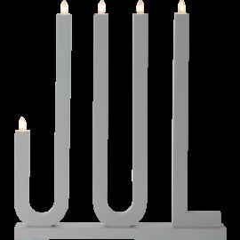 Koka svečturis pelēks 15W 42x48cm Jul 644-17