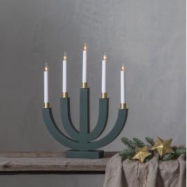 Koka svečturis izliekta veida zaļš 15W 37x47cm Eli 218-79