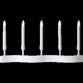 Koka svečturis balts 15W 58x29cm Flow 644-25