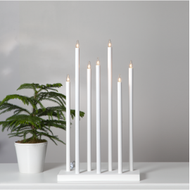 Koka svečturis balts 21W 38x66cm Holy 644-75