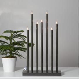 Koka svečturis melns 21W 38x66cm Holy 644-77