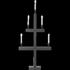 LED Koka svečturis uz statīva pelēks 2W 55x118cm Storm 644-36