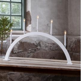 LED Koka svečturis izliekta veida balts 2W 89x59cm Storm 644-45