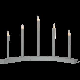 Koka svečturis izliekts pelēks 15W 60x36cm Accent 219-36