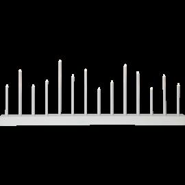 Koka svečturis balts 8,4W 77x27cm Echo 644-11