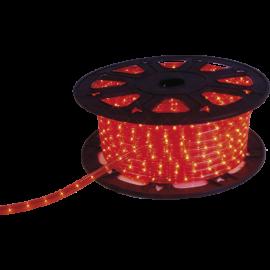 Lampiņu virtene lente sarkana 1620 LED 607,5W 4500cm Ropelight reel 564-02
