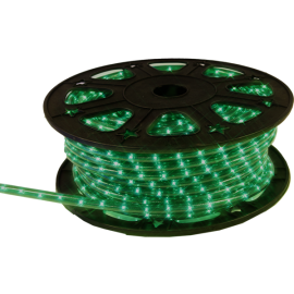 Lampiņu virtene lente zaļa 1620 LED 607,5W 4500xcm Ropelight reel 564-05