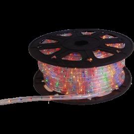 Lampiņu virtene lente krāsaina 1620 LED 607,5W 4500cm Ropelight reel 564-07