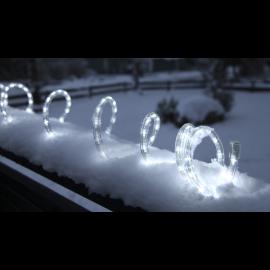 Lampiņu virtene lente caurspīdīga 1620 LED 135W 4500cm Ropelight reel 565-02