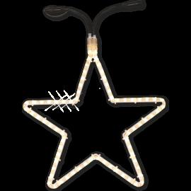 LED Diožu Virtene Zvaigzne Caurspīdīga 28cm 36 LED Lampiņas 484-40