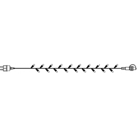 LED Diožu Virtene Melna 500cm 50 LED Lampiņas 484-01-80