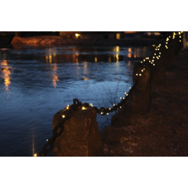 LED Diožu Virtene Melna 500cm 50 LED Lampiņas 484-01