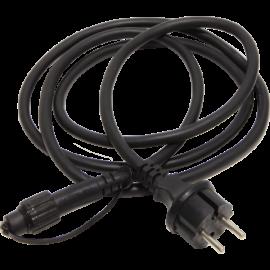 Kabelis ar kontaktdakšu melns 500cm Cable, 5m - start 484-25