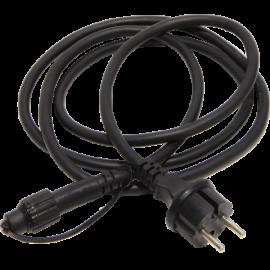 Kabelis ar kontaktdakšu melns 180cm Cable, 1,8m - start 484-28