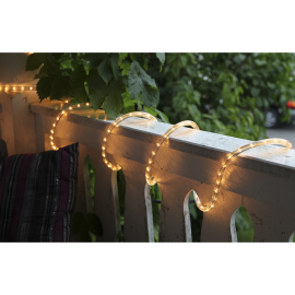 LED Diožu Virtene Caurspīdīga 600cm 216 LED Lampiņas 484-50
