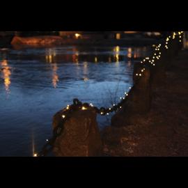 LED Diožu Virtene 5m 50 LED lampiņas SYSTEM EXPO Melna 500cm 50 LED Lampiņas 484-11
