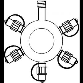 Virteņu sistēmu savienotājs melns x5 20x20cm System expo 484-21