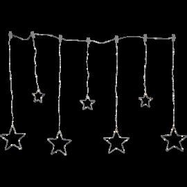 Lampiņu virtene zvaigznes sudraba 84 LED 2,1W 120x80cm Dew drop stars 582-20