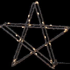 LED gaismas dekors zvaigzne uz baterijām melns 0,5W 25x25cm Super 700-46